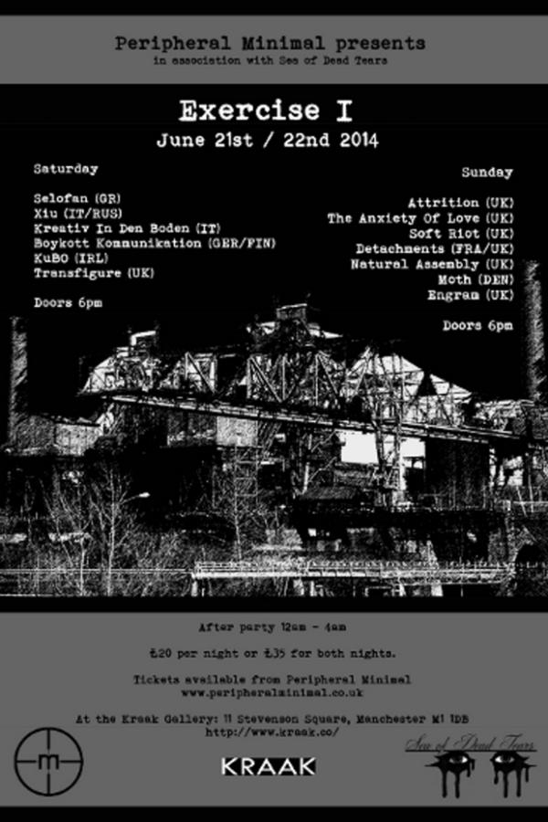 """""""Exercise I"""" Festival June 21st / 22ndManchester"""